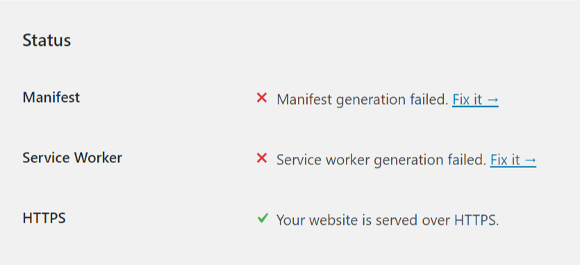 Manifest And Service Worker Generation Failed 2.0.1